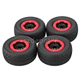 RC On-raod Tire Tyre Wheel Rim 4x For 1:10 Short Course Traxxas Slash Car #1