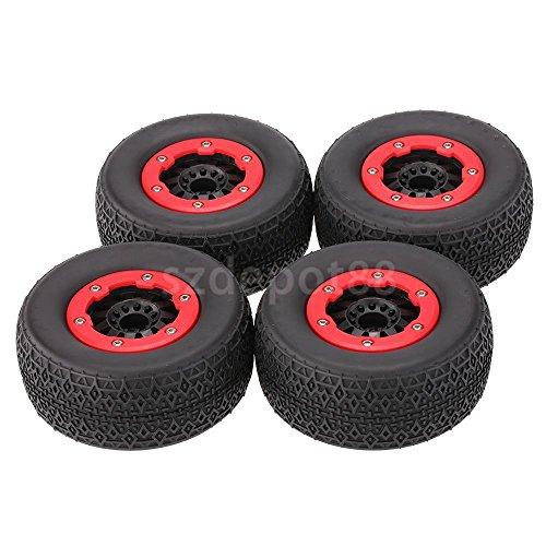 RC On-raod Tire Tyre Wheel Rim 4x For 1:10 Short Course Traxxas Slash Car #1 by uptogethertek