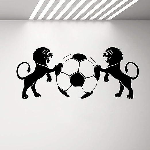 woyaofal Tatuajes de Pared Leones balón de fútbol Vinilo Deporte ...