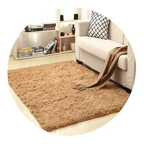 140cm 200cm 13 Color Living Room/Bedroom Wool Rug Antiskid Soft Carpet Carpet Gray White Blue Brown Pink purpule Black mat,Light Brown,100x160CM