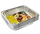 "eHomeA2Z Aluminum Pans Half Size Disposable 9"" x 13"" (10 Pack) (10, Half Size)"