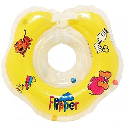 """Schwimmring """"Flipper"""" aus PVC, aufblasbarer Schultergurt für Babys, von Flipper gelb ROXY KIDS"""