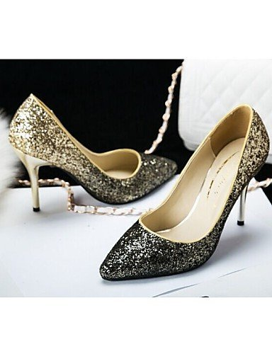 Shangyi Donna amp; Sera Sintetica Blu Argento Blu Partito Vestito A Scintillio Wedding Tacchi Scarpe Talloni Spillo Oro Tacco Da xw7EFqO5nB
