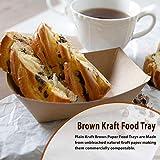 Brown Kraft Paper Food Tray, Capacity of