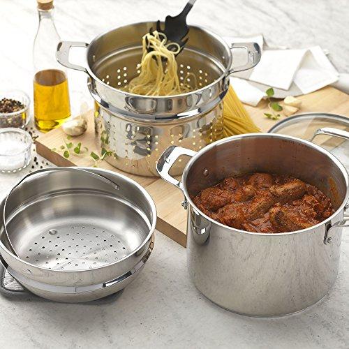 Emeril Lagasse 62960 Stainless Steel Multi-Cooker, 8 quart, Silver