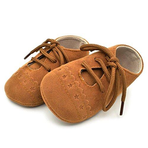 Clode® Baby Kleinkind Schuhe Sneaker Anti-Rutsch-Soft Sole Schnürschuhe Braun