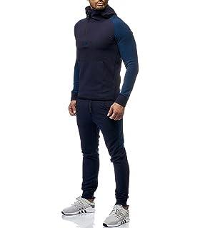 fedc40e122bff MonsieurMode - Ensemble Jogging Sportswear Survêt 1-082 Bleu Marine - Bleu