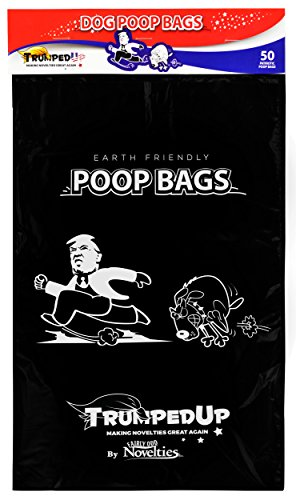 Donald Trump Dog Poop Pet Waste Bags Novelty Gag White Elephant Gift - Qty 50