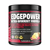 EDGEPOWER Intra-Workout Formula, NutraEdge 415G BCAA's + Citrulline Malate, Glutamine, and Electrolytes, Increases Stamina and Muscle Recovery, Replenishes Electrolytes, Fruit Punch Flavor.