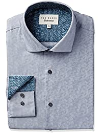 Ted Baker Men's Slim Fit Scooter Textured Dress Shirt