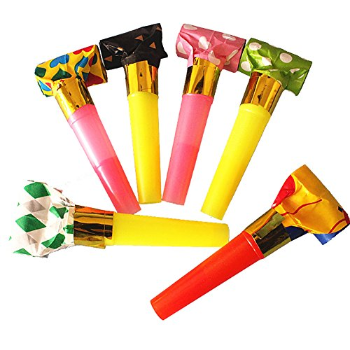 Looching Assorted 36 Packs Party Horns Noisemakers Blow outs