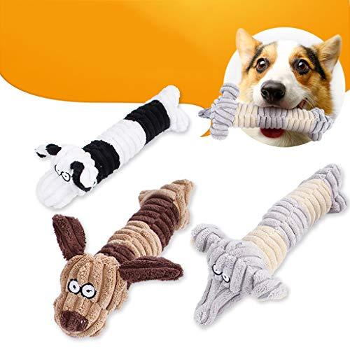 ペットのおもちゃかわいいヒョウストライプのおもちゃぬいぐるみ人形のおもちゃ犬猫のおもちゃ圧力を和らげるインタラクティブなおもちゃの音噛む玩具エクササイズペットの体のリラクゼーションペット感情的なおもちゃ咀嚼のおもちゃ (白)の商品画像