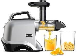 FEZEN Slow Juicer, Juicer Machines Vegetable & Fruit, Cold Press Juicer with Quiet Motor, Masticating juicers Easy to Clean, 90% Juicer Yield & Purest Juice
