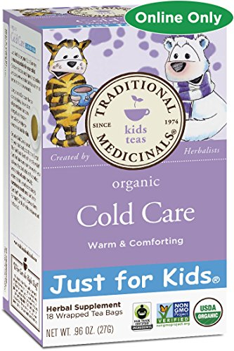Traditional Medicinals Just for Kids Organic Cold Care Tea, 18 Tea Bags (Pack of 1) ()