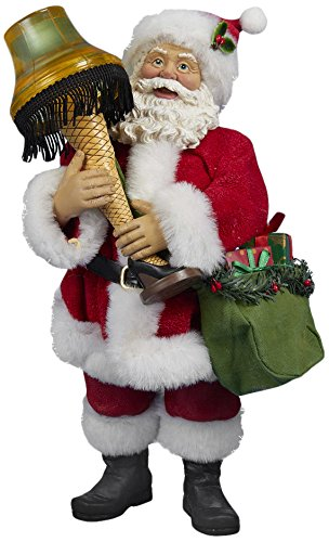 Kurt Adler Leg Lamp Fabriche' Santa with Light, 10-Inch (Christmas Santa Story)