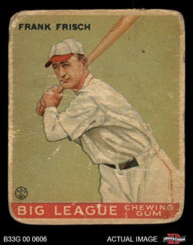 1933 Goudey # 49 Frankie Frisch St. Louis Cardinals (Baseball Card) Dean'S Cards 1.5 - Fair Cardinals