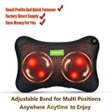 DEDAKJ Shiatsu Deep Kneading Massage Pillow with Heat –Multifunctional Great for Every Body Part-Four Levels to Adjust