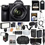 Cheap Sony Alpha A7 III 4K Digital Camera & 28-70mm FE OSS Lens with 64GB Card + Battery & Charger + Case + 3 Filters + Tripod + Flash + LED Light + Mic Kit