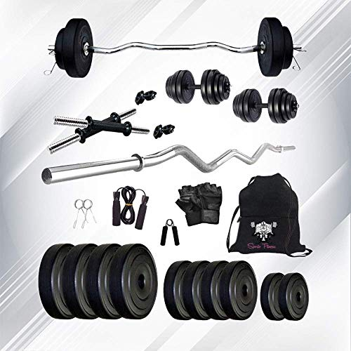 SPORTO FITNESS 10kg Combo 4-WB Home Gym and Fitness Kit Home Gym [CURL]