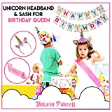 210 PCs Unicorn Party Supplies for girls with Happy