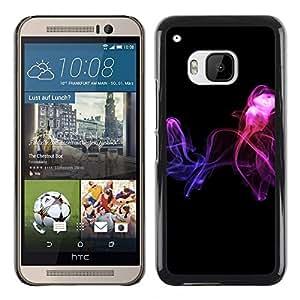 Be Good Phone Accessory // Dura Cáscara cubierta Protectora Caso Carcasa Funda de Protección para HTC One M9 // Abstract smoke