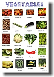 Vegetables - Classroom Food Science Poster