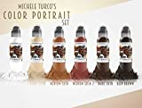 Michele Turco Color Portrait 6 Bottle Set - World Famous Tattoo Ink - 1oz.