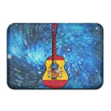 Spain Flag Guitar Art Indoor Outdoor Entrance Rug Non Slip Car Floor Mats Doormat Rugs For Home