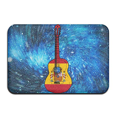 Spain Flag Guitar Art Indoor Outdoor Entrance Rug Non Slip Car Floor Mats Doormat Rugs For Home by HONMAt-Non