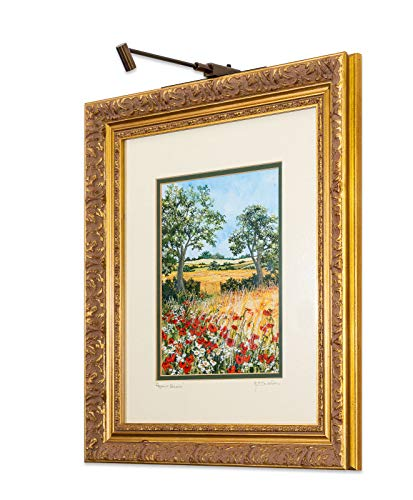 Cordless and Rechargeable LED Art and Picture Light - Mini-spot (Bronze Antique, Short 8