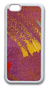 Cloth Color Graffiti Custom iPhone 6 Case Cover TPU White