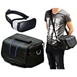 Navitech Black Carry Bag With shoulder Strap For Virtual Reality 3D headsets including the Homido