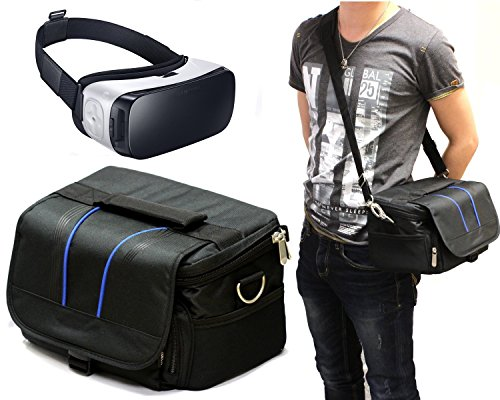 Navitech Black Carry Bag With shoulder Strap For Virtual Reality 3D headsets including the sidardoe 3d