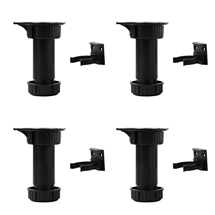 uxcell pp 4pcs adjustable kitchen cabinet legs feet height total 100 rh amazon com adjustable kitchen cabinet legs bunnings ikea kitchen cabinet legs adjustable