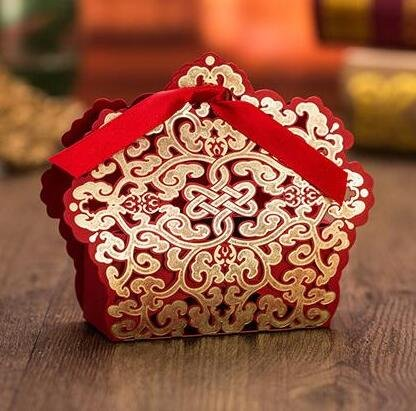 Sorive® 50x Red Laser Cut Wedding Favor Boxes Wedding Candy Box Casamento Wedding Favors And Gifts event party supplies from Sorive