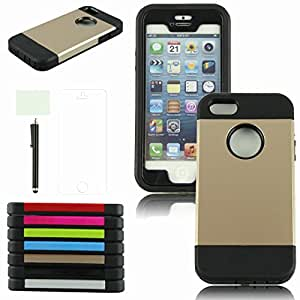 iPhone5G Case Cover,Hard Back Case Cover for iPhone5G+Screen Protector+Stylus