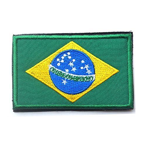 Brazil Flag Patch Embroidered Military Tactical Flag Patches