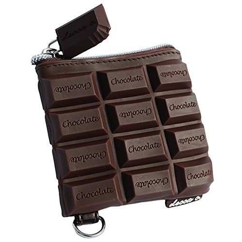 - deccac Chocolate Candy Bar Style Scented Coin Purse, 3.5 X 3.5 Inches