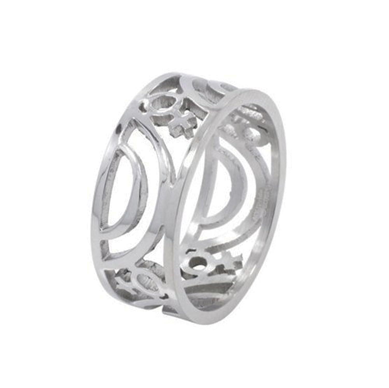 Amazon Venus Female Symbol Carved Ring Lesbian Pride Steel