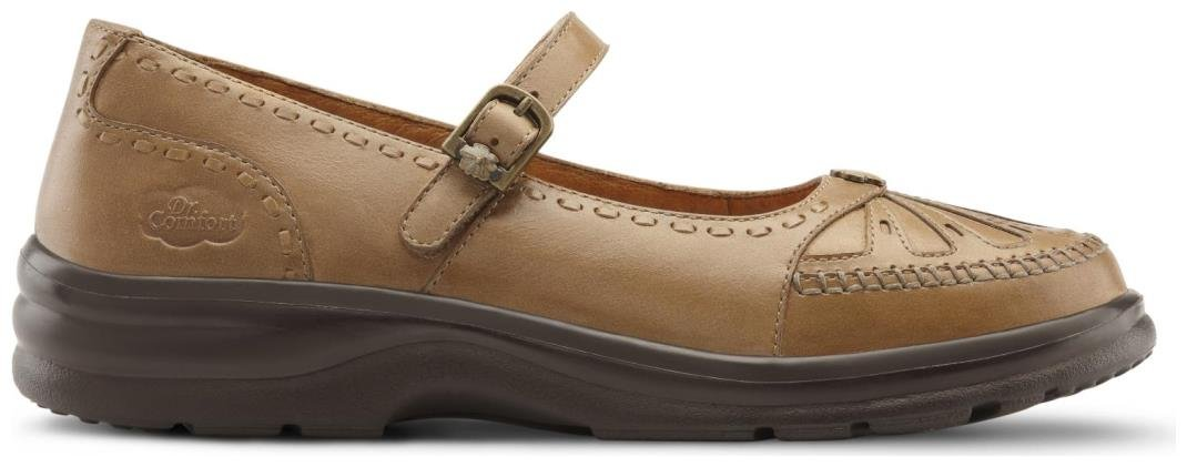 Dr. Comfort Women's Paradise Saddle Tan Diabetic Mary Jane Shoes