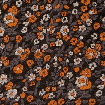Tie Silk Pre Orange Men's floral grey Bow micro and tied Notch wTfxqXH5Aw