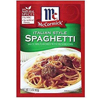 (McCormick Italian Mushroom Spagehetti Sauce Mix (Pack of 4) 1.5 oz Packets)
