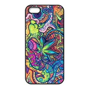 Trippy Protective Rubber Back Fits Cover Case for iPhone 5 5s