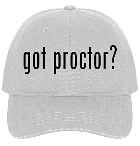 Proctor? - A Nice Comfortable Adjustable Dad Hat Cap, White ()