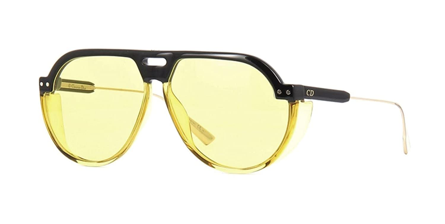 4e31f8eed4 Amazon.com  Authentic Christian Dior Diorclub3 71C HO Black Yellow  Sunglasses  Clothing