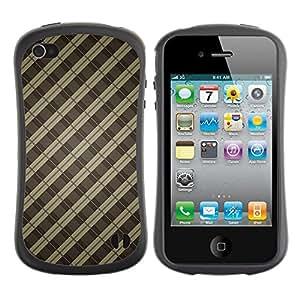 Suave TPU GEL Carcasa Funda Silicona Blando Estuche Caso de protección (para) Apple Iphone 4 / 4S / CECELL Phone case / / Brown Lines Guitar Pattern Metal Bars /