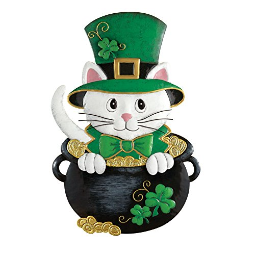 Collections Etc St. Patrick's Day Cat Door Decoration from Collections Etc