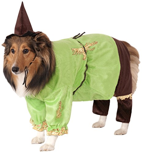 Latex Dog Costume (Wizard of Oz Pet Costume, Large, Scarecrow)