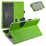 """Asus ZenPad Z10 Bluetooth Keyboard Case,Mama Mouth Slim Stand PU Leather Case Cover With Romovable Bluetooth Keyboard For 9.7"""" ASUS Zenpad Z10 ZT500KL Verizon 4G Let Android 6.0 Tablet,Green"""