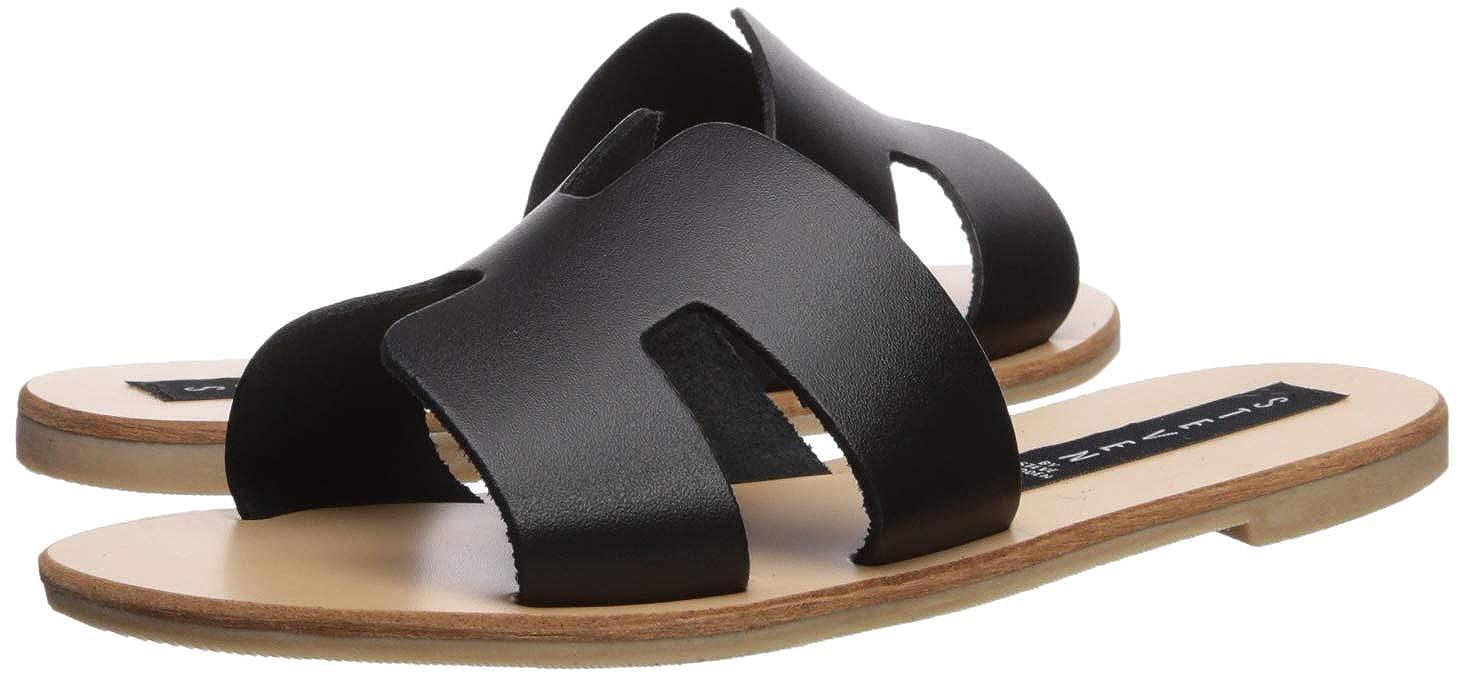 b9eff9f93a758 Amazon.com | Steve Madden Women's Greece Black Leather Sandal 6.5 US |  Sandals